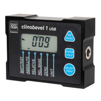 Brown Sharpe TESA 05330203 Digital CLINOBEVEL Electronic Inclinometer 1 USB